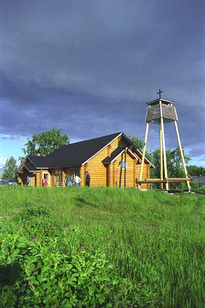 June 1998. Lutheran church in Pitkäranta
