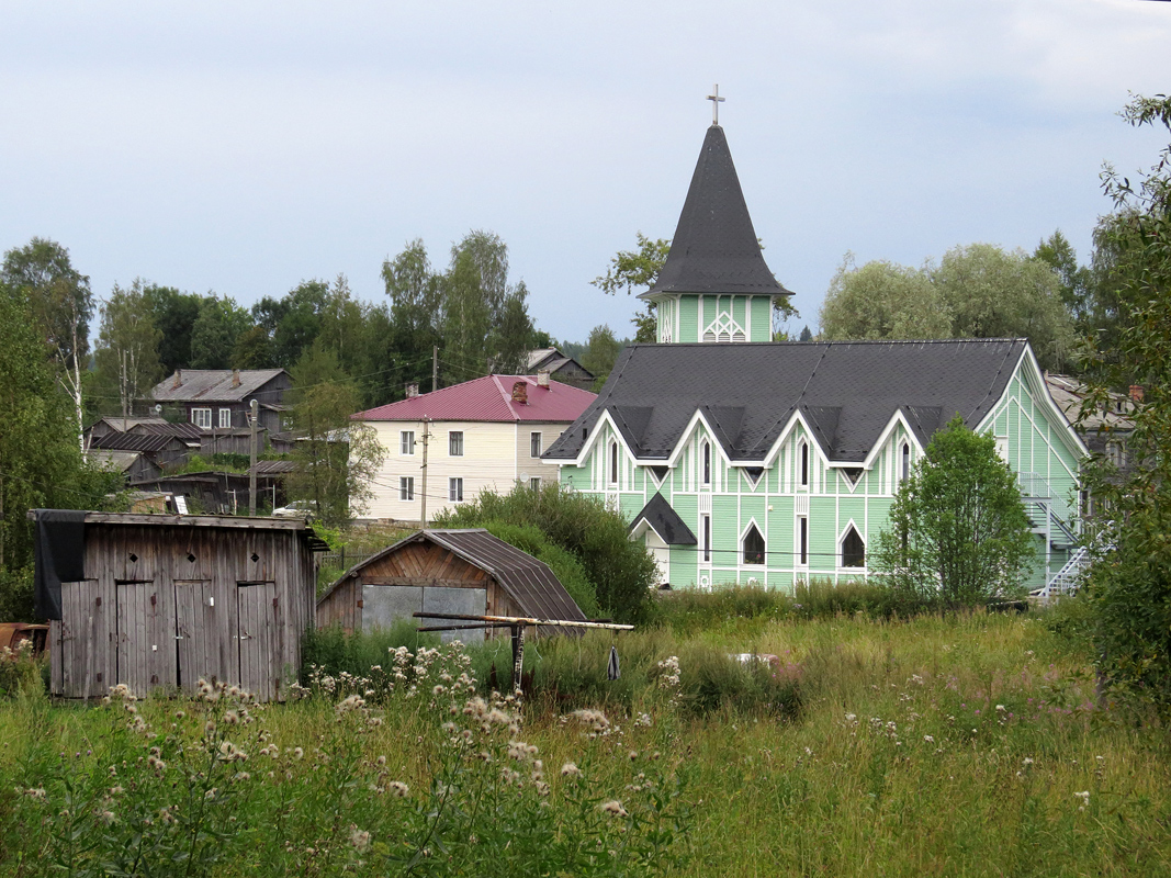 August 15, 2014. Lutheran church in Läskelä