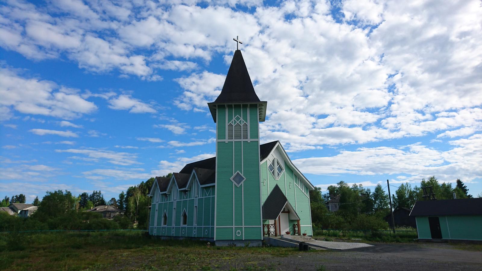 June 2018. Lutheran church in Läskelä