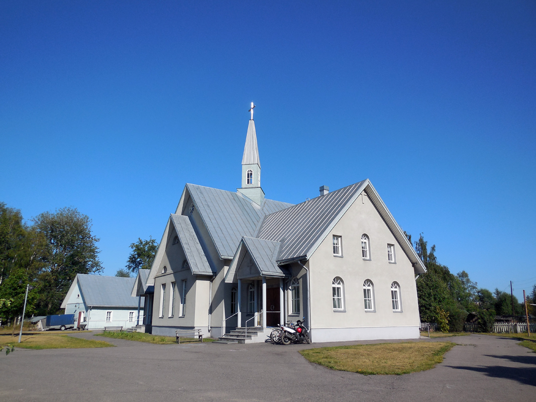 August 6, 2014. Lutheran church in Olonets