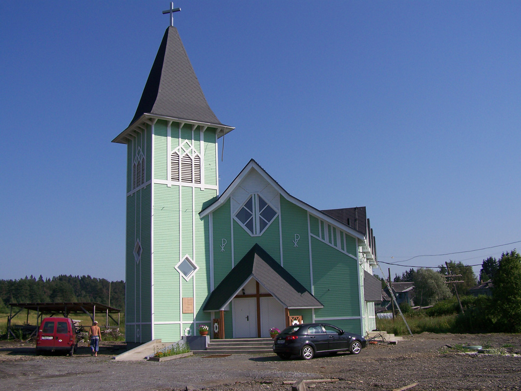 July 30, 2012. Lutheran church in Läskelä