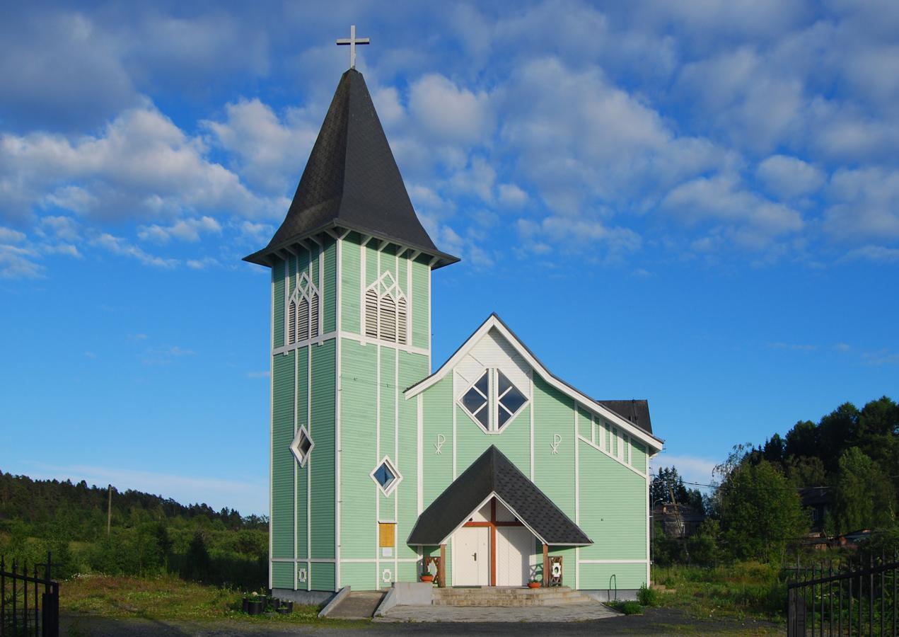 6 июля 2019 года. Лютеранская церковь в Ляскеля
