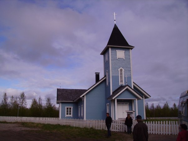 2000's. Lutheran church in Kalevala