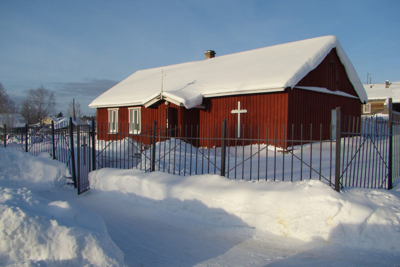 Mid 2010's. Parish house in Derevjanka station