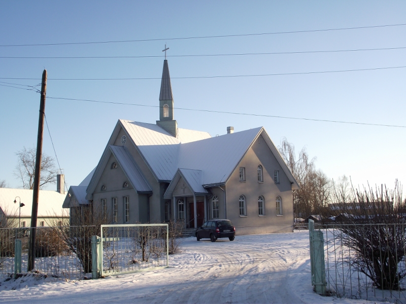 January 19, 2014. Lutheran church in Olonets