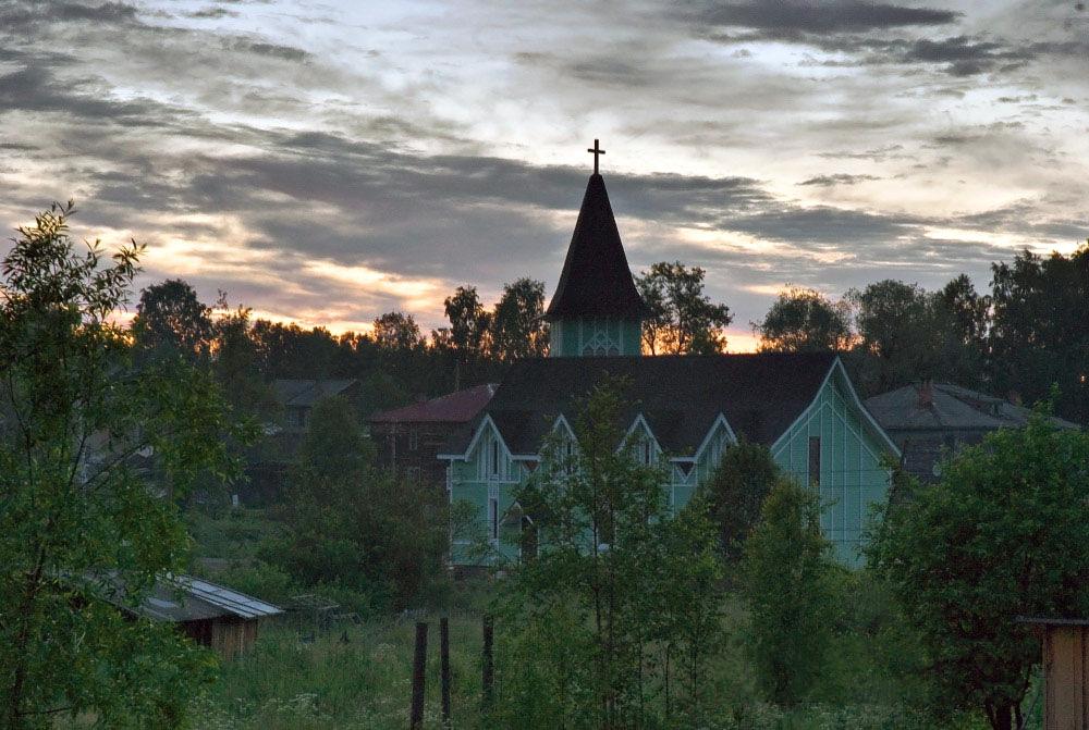 June 25, 2011. Lutheran church in Läskelä