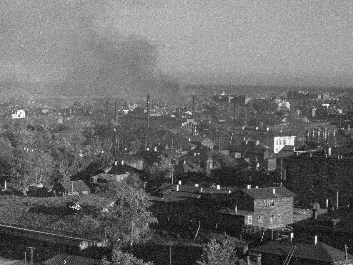 October 1, 1941. Petrosavodsk. Gertsen Street. Former Lutheran church