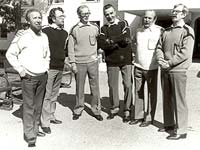 William Hall, Andro Lehmus, Nikolai Samsonov, Ensio Vento, Orvo Björninen and Pauli Rinne