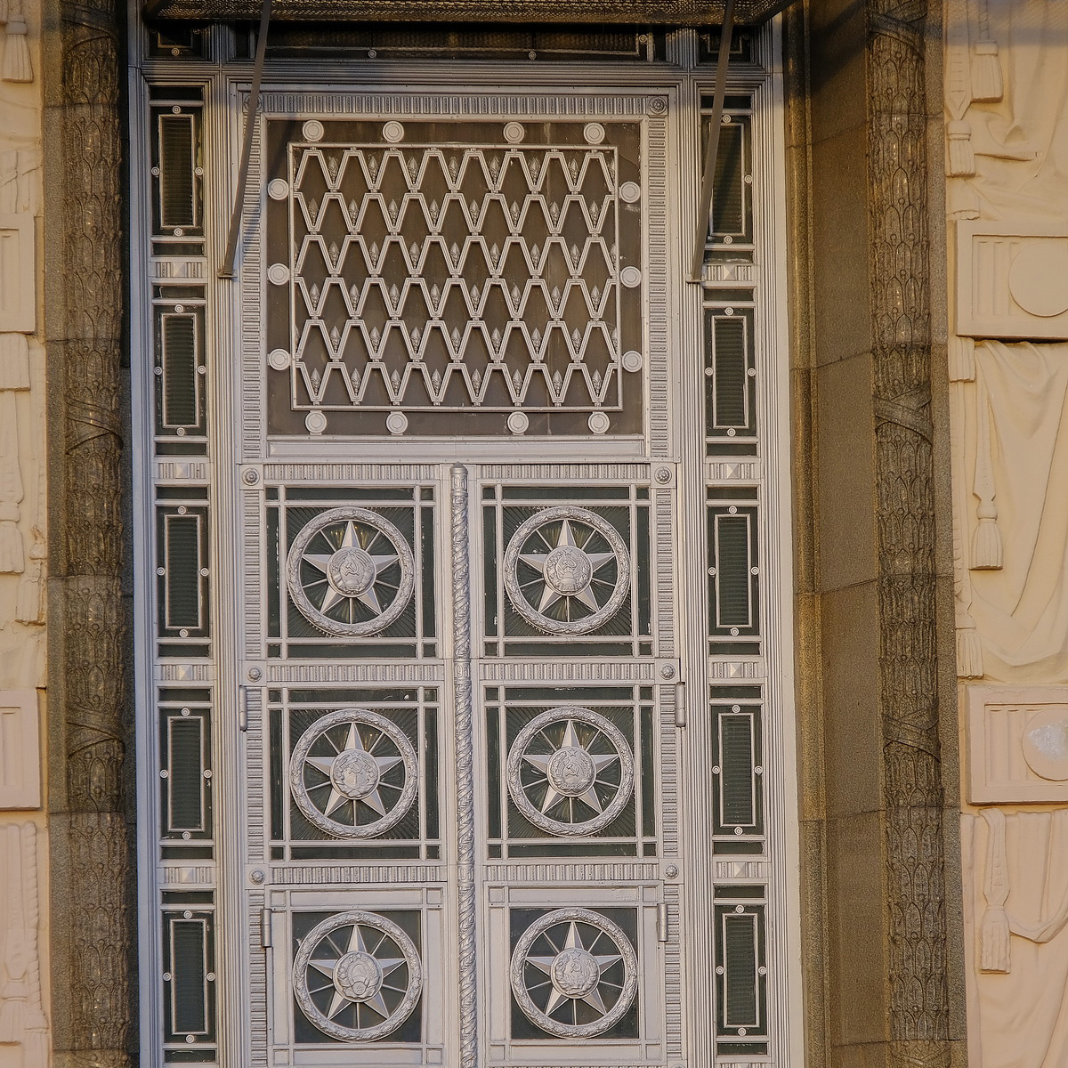 September 1, 2019. The entrance doors of the Ministry of Foreign Affairs of USSR