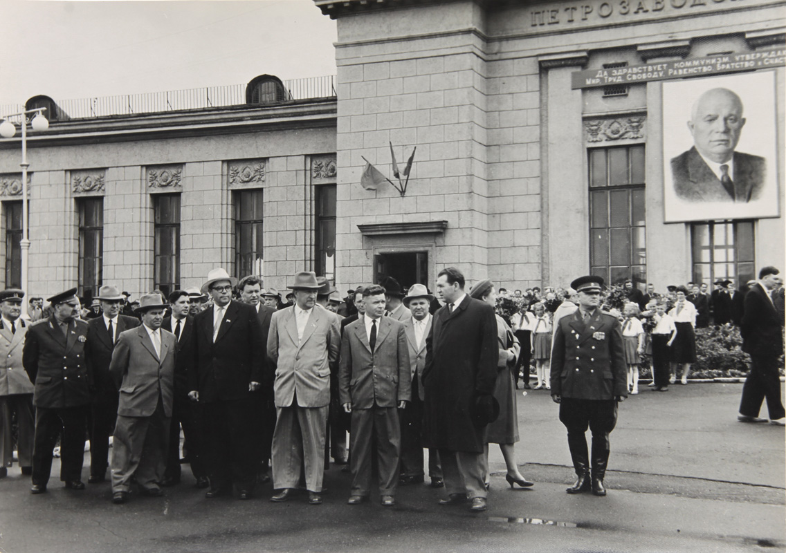 July 16, 1962. Nikita Khrushchev in the Petrozavodsk