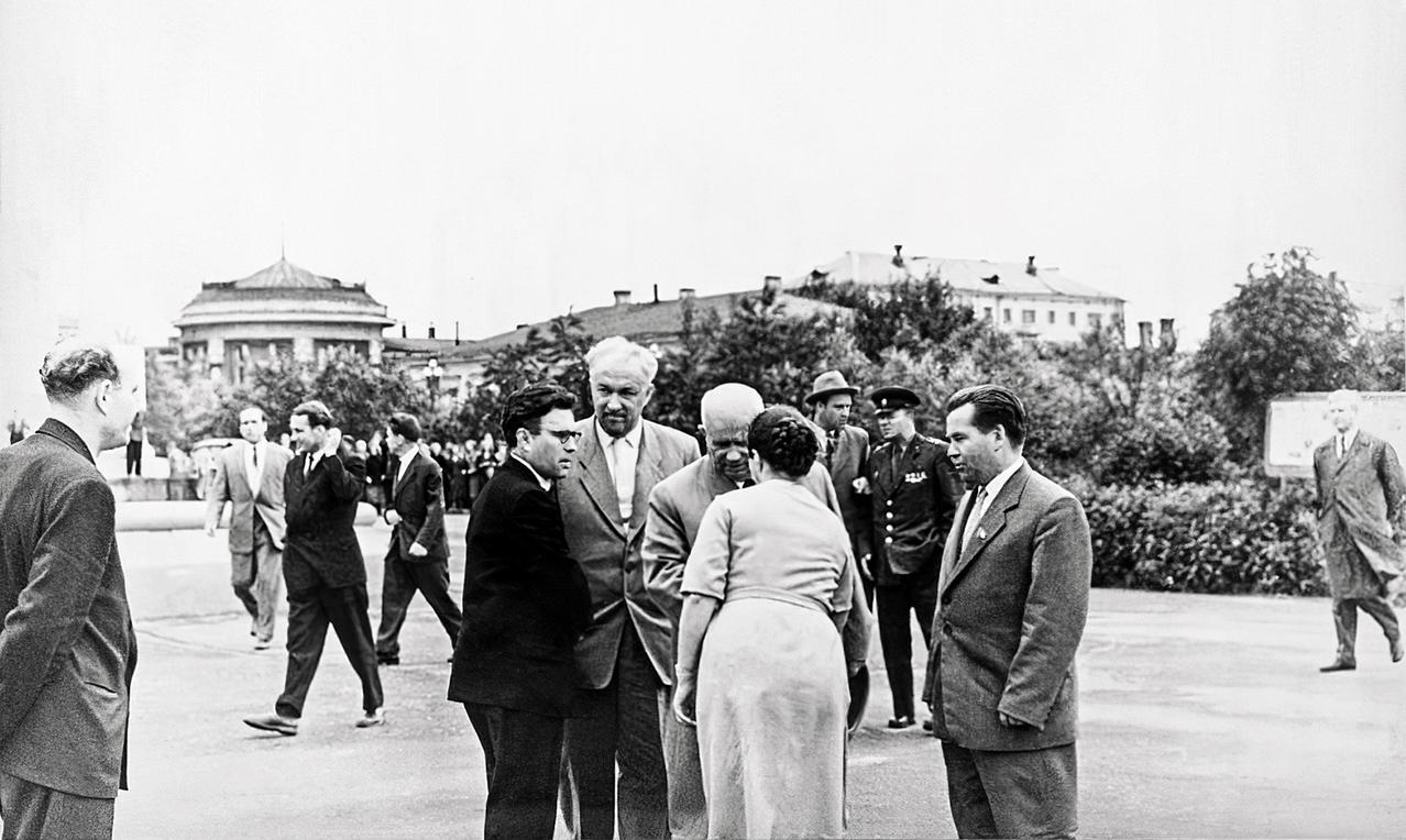 July 16, 1962. Nikita Khrushchev in the Petrozavodsk