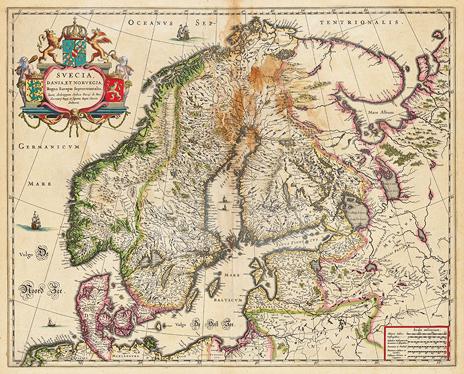 1635. Svecia, Dania, et Norgegia, Regna Europae Septentrionalia