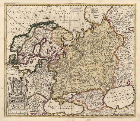 1640 год. Novissima Russiae tabula