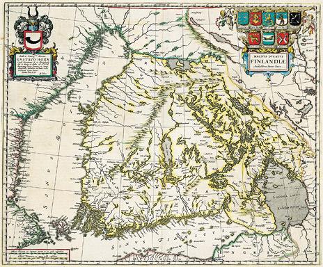 1662 год. Magnus ducatus Finlandiae