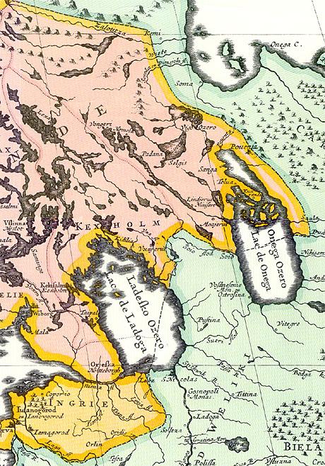 1695. Nova Scandinavia tabula ad Usum Serenissimi Burgundia