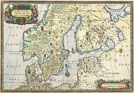 1696 год. Nova Et Accurata ORBIS ARCTOI tabula geographica