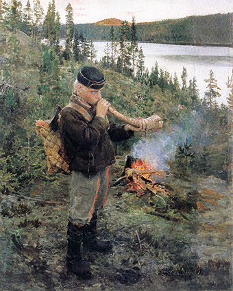 1892. The little shepherd from Paanajärvi