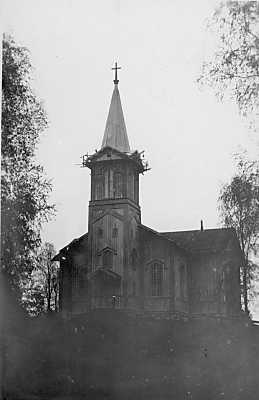 1930's. Pälkjärvi. Lutheran church