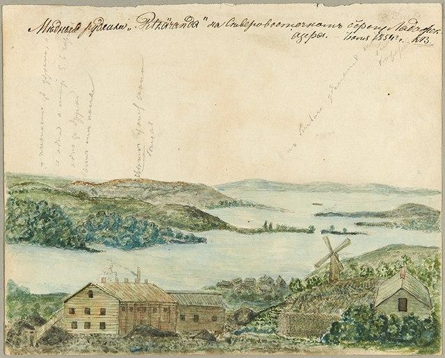 7 июля 1854 года. Медные рудники Питкяранда на северо-восточном берегу Ладожского озера