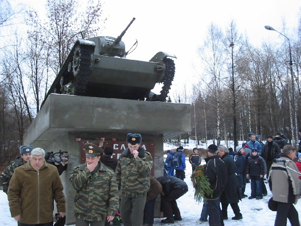 December 2, 2005. Pitkäranta. Replica of tank T-26