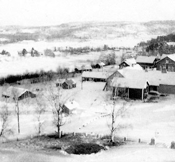 December 1939. Impilahti. View from the Church tower. Soviet bomb has hit near the Church