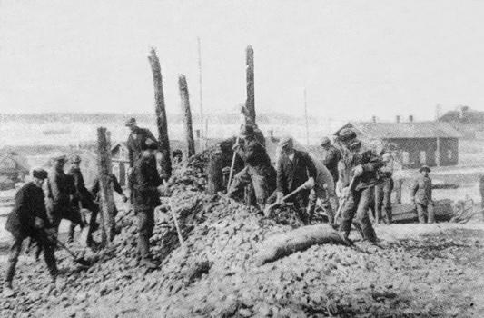 1930 год. Импилахти. Строительство железной дороги