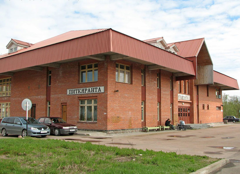 May 21, 2006. Pitkäranta. Railway station building