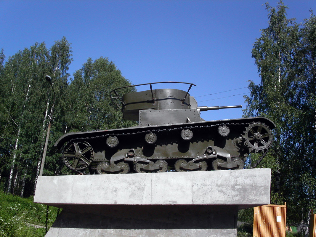 July 11, 2007. Pitkäranta. Replica of tank T-26