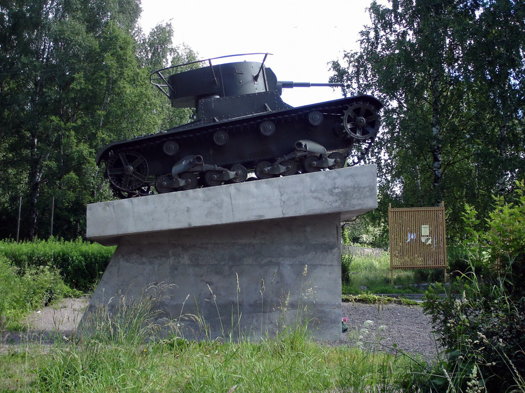 July 26, 2008. Pitkäranta. Replica of tank T-26