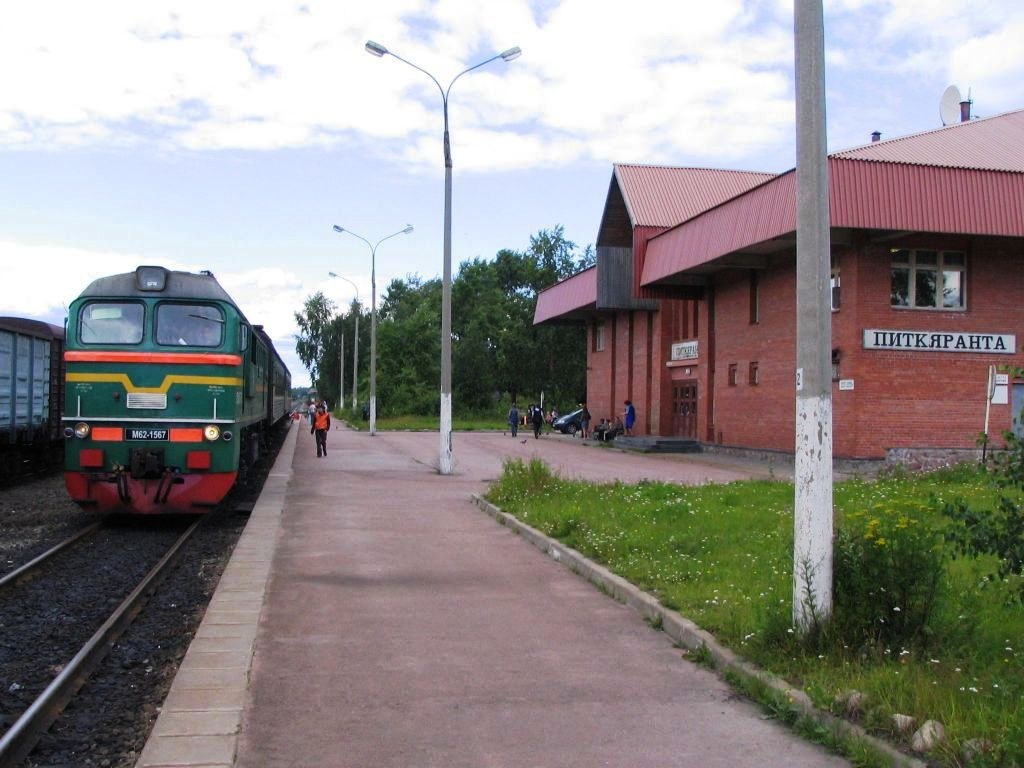 July 21, 2007. Pitkäranta. Railway station