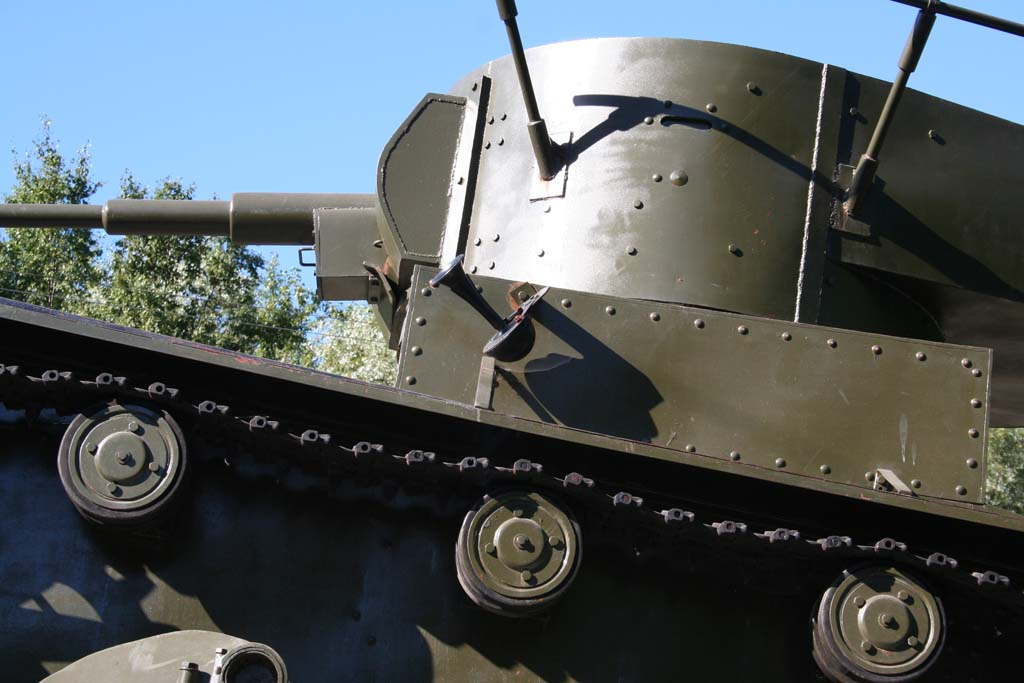 August 9, 2007. Pitkäranta. Replica of tank T-26