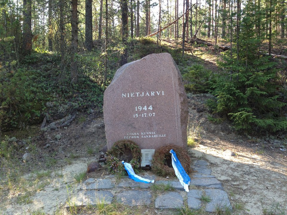 July 14, 2014. The monument to the battle on Nietjärvi Lake