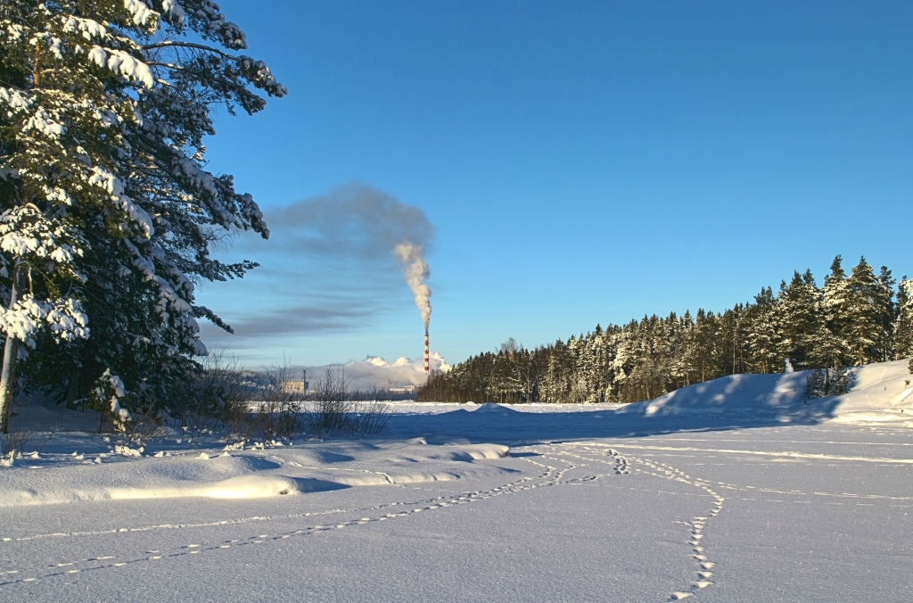 January 2013. Pitkäranta. Cellulose plant
