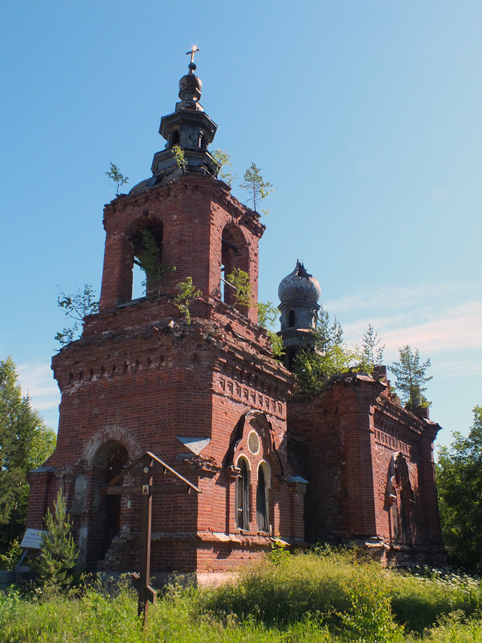 June 21, 2013. Syskynsalmi. Ruins of the St.Hermann Skete