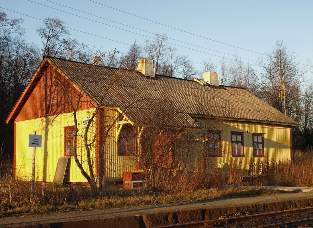 2 ноября 2008 года. Леппясилта. Железнодорожная станция