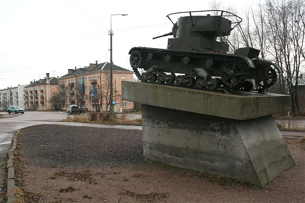 November 12, 2008. Pitkäranta. Replica of tank T-26