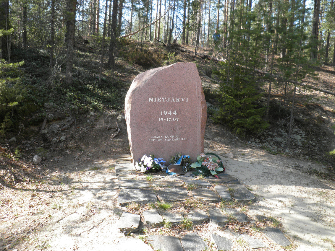 May 17, 2012. The monument to the battle on Nietjärvi Lake