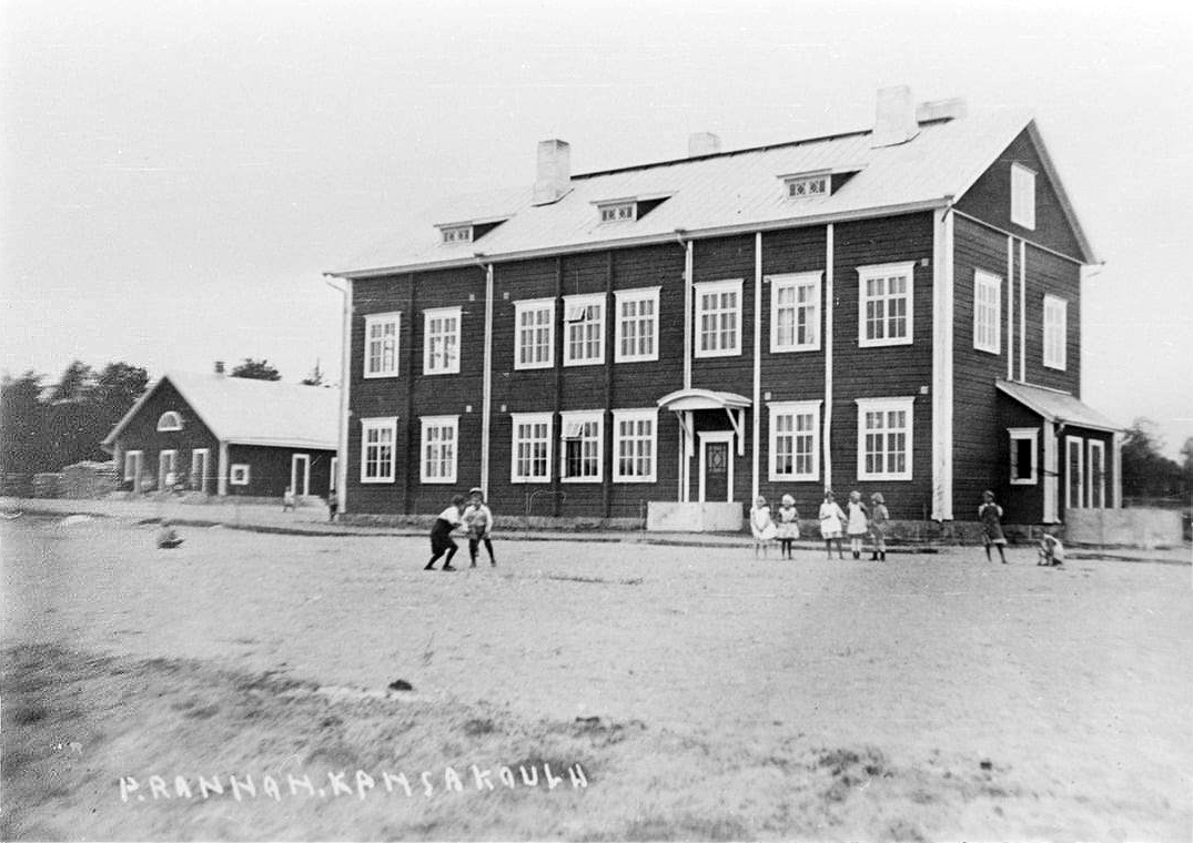 1930's. Pitkäranta. The Popular School