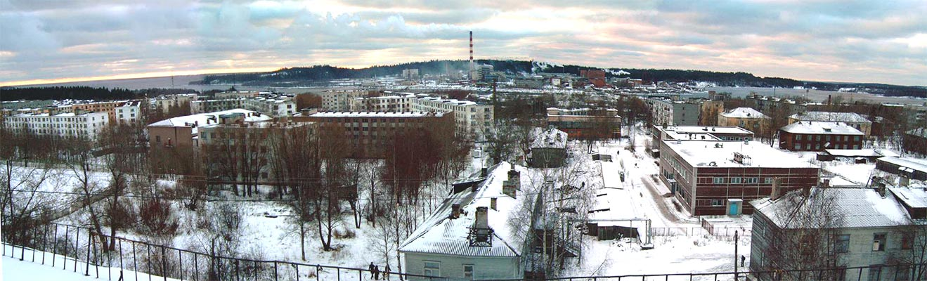 December 2003. Pitkäranta. Panorama