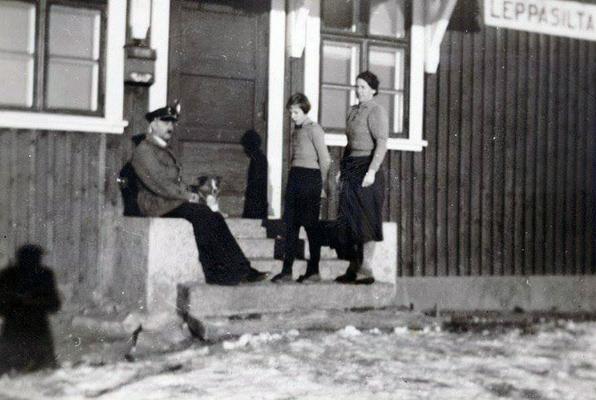 1930-е годы. Леппясилта. Железнодорожная станция