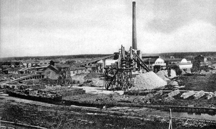 1930's. Pitkäranta. Cellulose plant