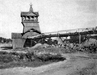 1930-luvun. Maria-kaivos. Vanha kaivostorni