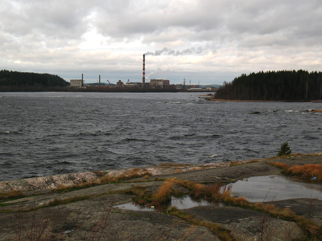 November 7, 2008. Pitkäranta. Cellulose plant
