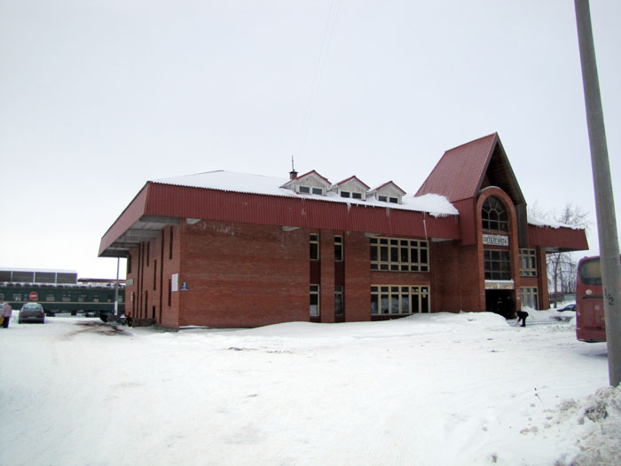 March 12, 2010. Pitkäranta. Railway station building