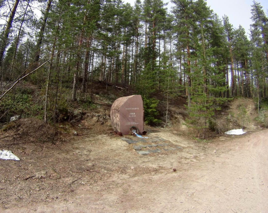 May 8, 2015. The monument to the battle on Nietjärvi Lake