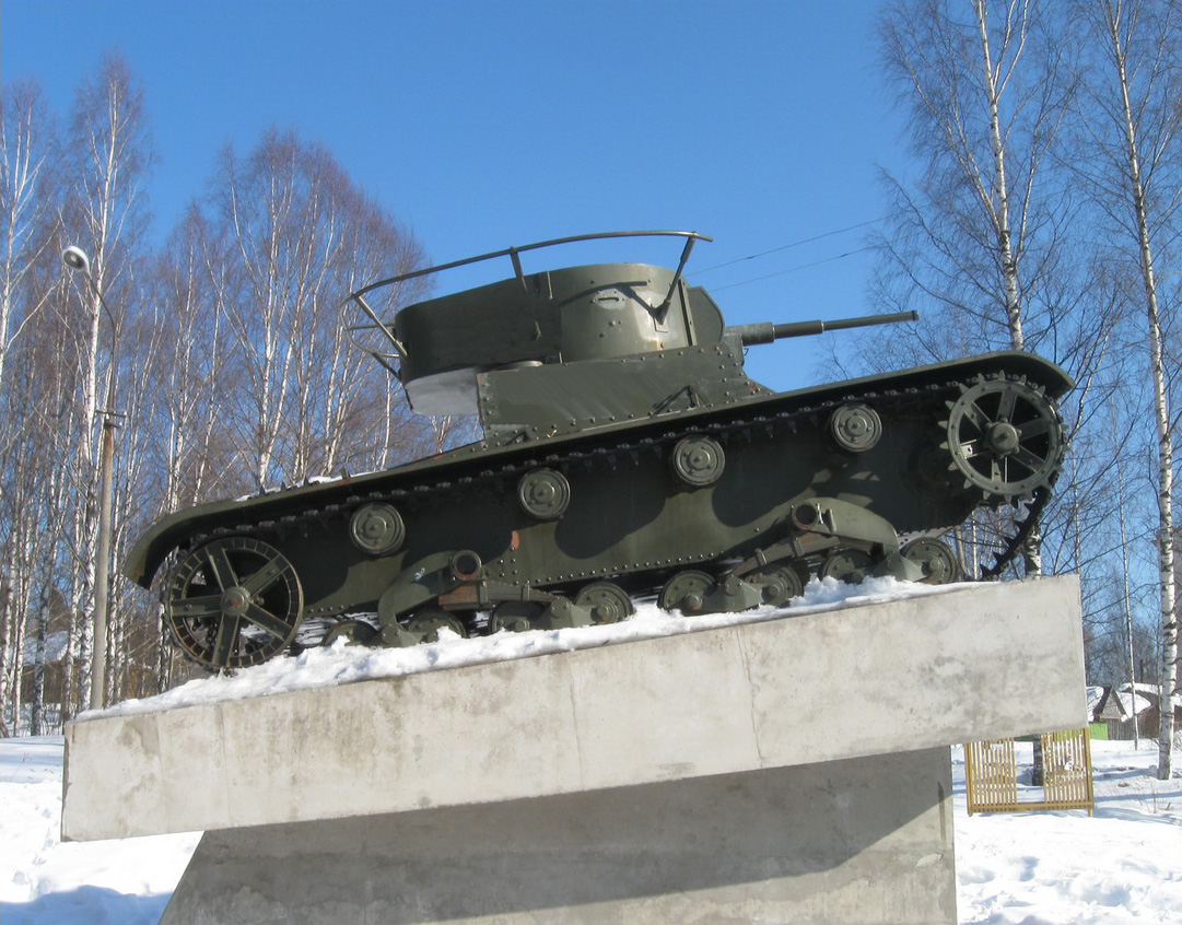 March 19, 2011. Pitkäranta. Replica of tank T-26