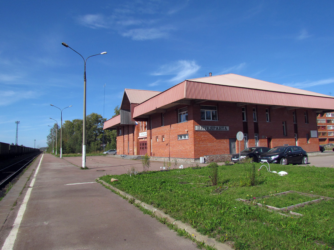 September 2014. Pitkäranta. Railway station