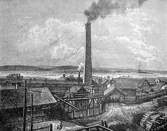1890's. Pitkäranta. Copper factory