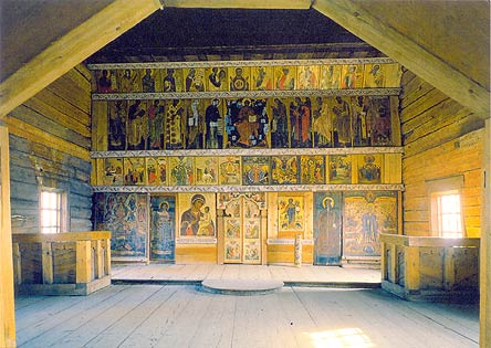 1980's. The iconostasis of the Church of the Protection of the Virgin