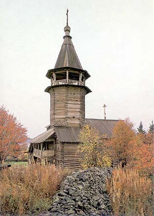 1985. Kizhi. Chapel from Kavgora village, XVIII